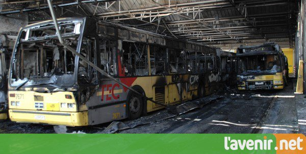 Incendie aux Tec Charleroi: la thèse de l'accident est privilégiée