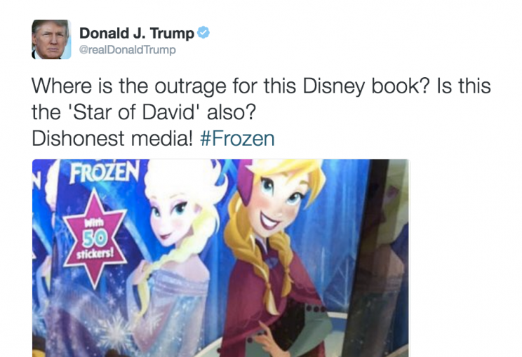 Donald Trump cites Disney's 'Frozen' to defend controversial tweet ~ Top Story