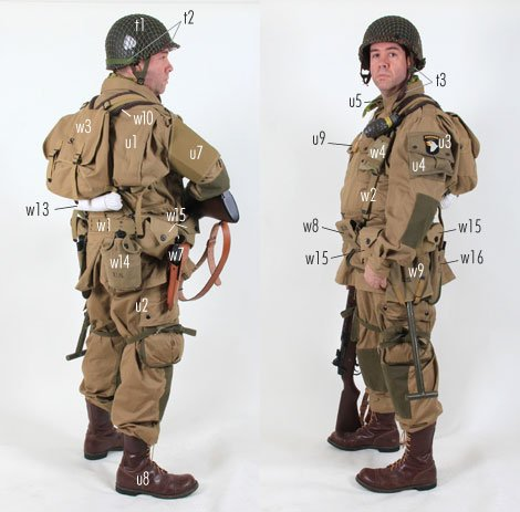 kit guide - Parachutiste US - WW2 Quebec