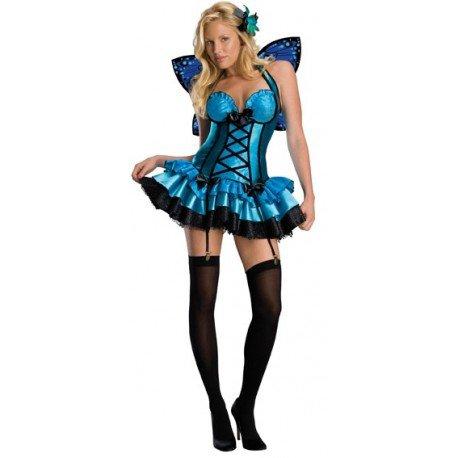 Déguisement Fée Fantasy Fairy Bleue Femme - Baiskadreams.com