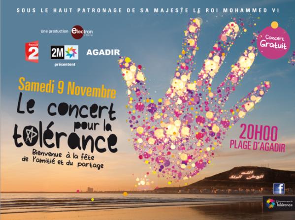 Edition 2013 du concert pour la tolérance 'AGADIR'