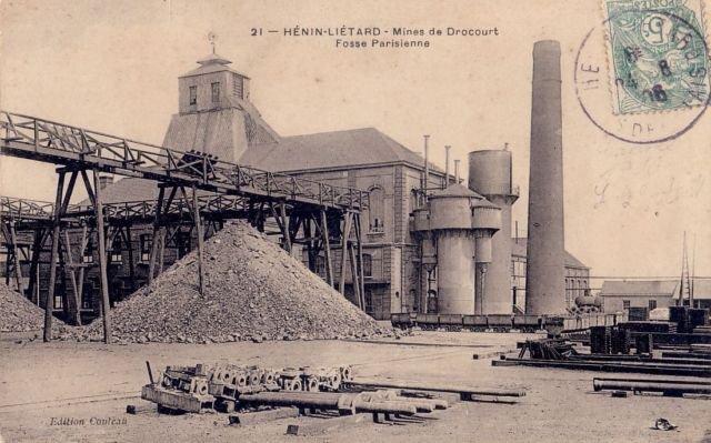 drocourt le village hénin liétard à hénin beaumont les mines de charbons