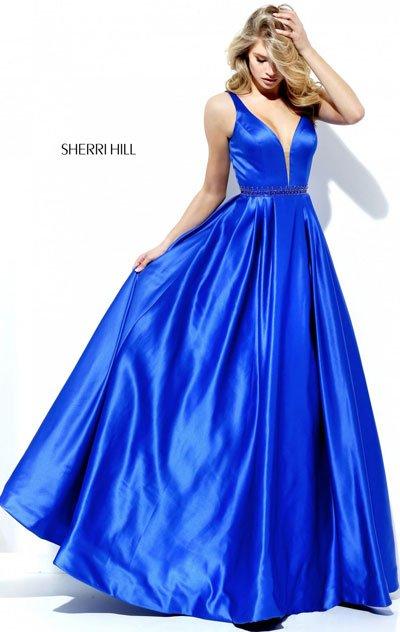 Long Prom Dresses 2017 For Sherri Hill 50496 Royal