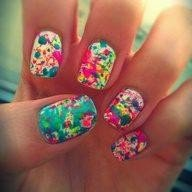 Nails fleuris
