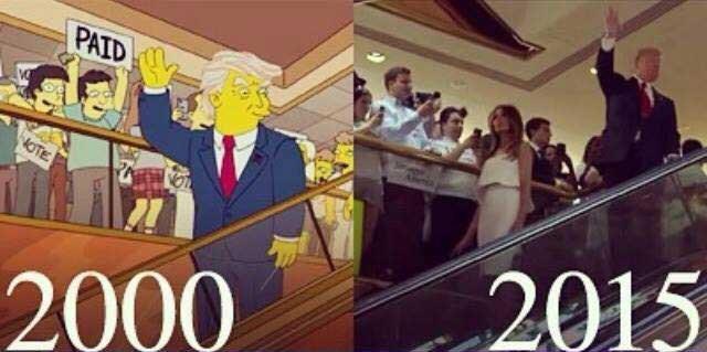 Il y a 16 ans, les Simpson prévoyaient la montée au pouvoir de Donald Trump | Le Nouvel Ordre Mondial