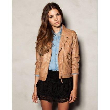 Perfecto PULL & BEAR Veste en cuir en cuir - Catalogue - Be.com