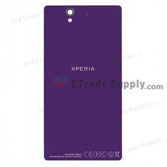Sony Xperia Z L36h Battery Door - Purple - With Xperia Logo