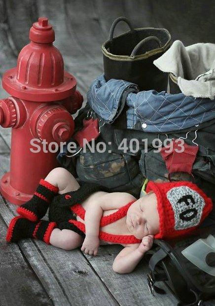 Livraison gratuite nouveau né bébé chapeau pompier homme chapeau, Diaper cover set chapeau et bretelles bébé nouveau né des accessoires photo bébé caps dans Chapeaux et Casquettes de Mère ...