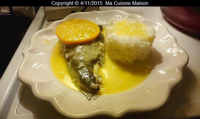 TURBOT FACON BEURRE BLANC D'AGRUMES ET RIZ DE CAMARGUE (recette maison) - Ma Cuisine Maison