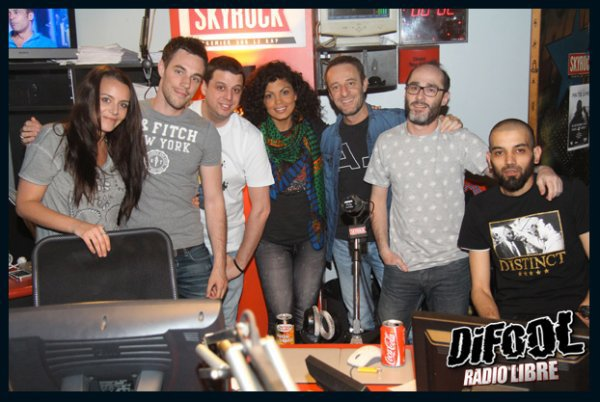 Nawell Madani dans la Radio Libre