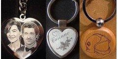 Foli Passagere - Porte-clefs Coeur avec votre photo