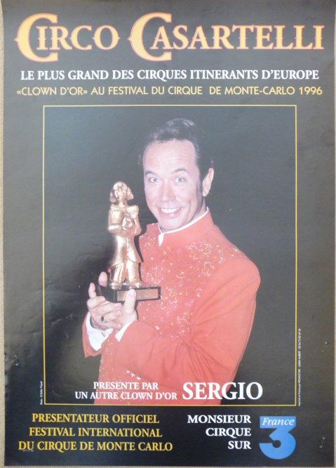 Affiche circo CASARTELLI Clown d'Or Monaco - SERGIO 2