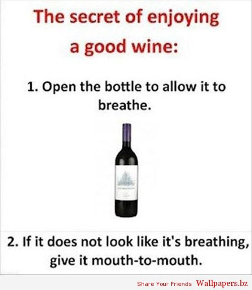 How to Drink Wine | Funny Wallpapers