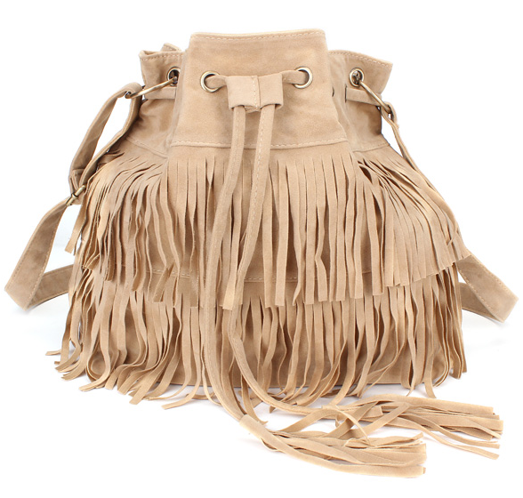 Free Tracking - Women Tassel Drawstring Chain Bucket Bags Shoulder Handbag