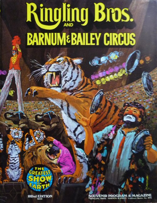 Programme RINGLING BROS AND BARNUM & BAILEY CIRCUS 102nd Edition 1972 - 2