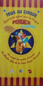 Programme Cirque PINDER Moulin de Joly Croix Rouge - Circus