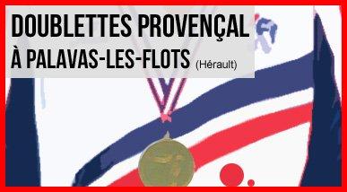 Palavas-les-Flots, France doublettes Jeu Provençal - Championnats de France - ARTICLES sur la pétanque