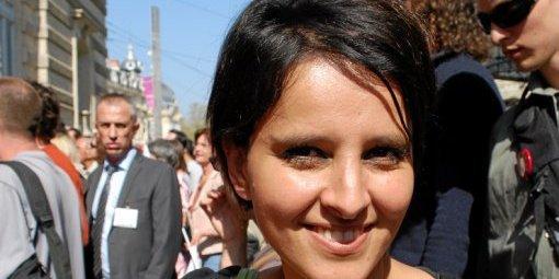 Montpellier Najat Vallaud-Belkacem présente à la Lesbian et Gay Pride