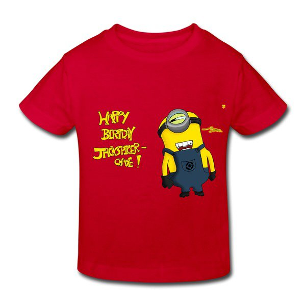 Happy Birthday Minions Red Toddler T-shirt For Toddler on Sale-HICustom.net