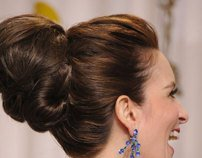 Oscars Hair How-To: Tina Fey's Ultra-Glam Bun