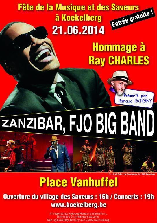 Koekelberg rendra hommage à Ray Charles pour la Fête de la Musique 2014 - Last night in Orient