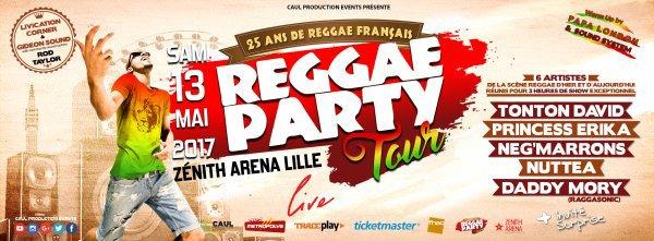 """Concert Événement """" Reggae Party Tour Live """" Zénith Arena..."""