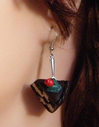 Boucle d'oreille Gâteau en fimo Argent 925 : Boucles d'oreille par jl-bijoux-creation