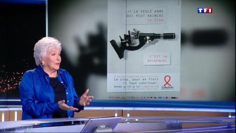 """Vidéo Pour le Sidaction, Line Renaud appelle à """"continuer le combat"""" - Tous les journaux télévisés de TF1 -"""