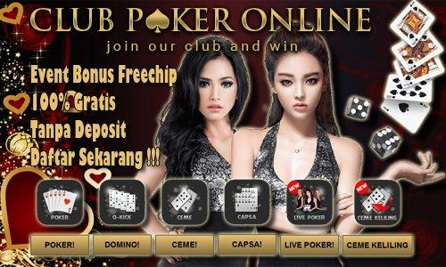 Bonus Freechip Harian Member Aktif Situs Club Poker Online
