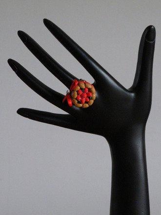 Bague charlotte au fraises en fimo réglable : Bague par jl-bijoux-creation