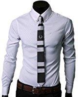 Homme Mode Chemise de Loisir Manches Longues Moulant Contraste Couleurs: Amazon.fr: Vêtements et accessoires
