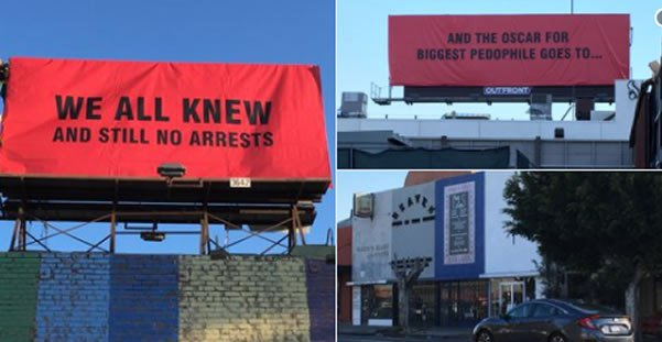 Artist's 'Three Billboards' In Hollywood Take Aim At The Oscars #MeToo Movement