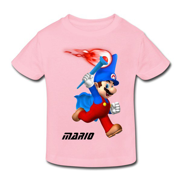 Mario Holding The Torch Toddler T-shirt on Sale-Art & design Kids & Babies |HICustom