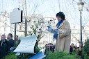 BERNARD LAVILLIERS A L'INAUGURATION DE LA PLACE ARAGON 27 MARS 2012