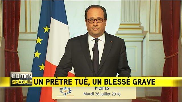 """F. Hollande : """"Notre démocratie est la cible ; elle sera notre bouclier"""""""
