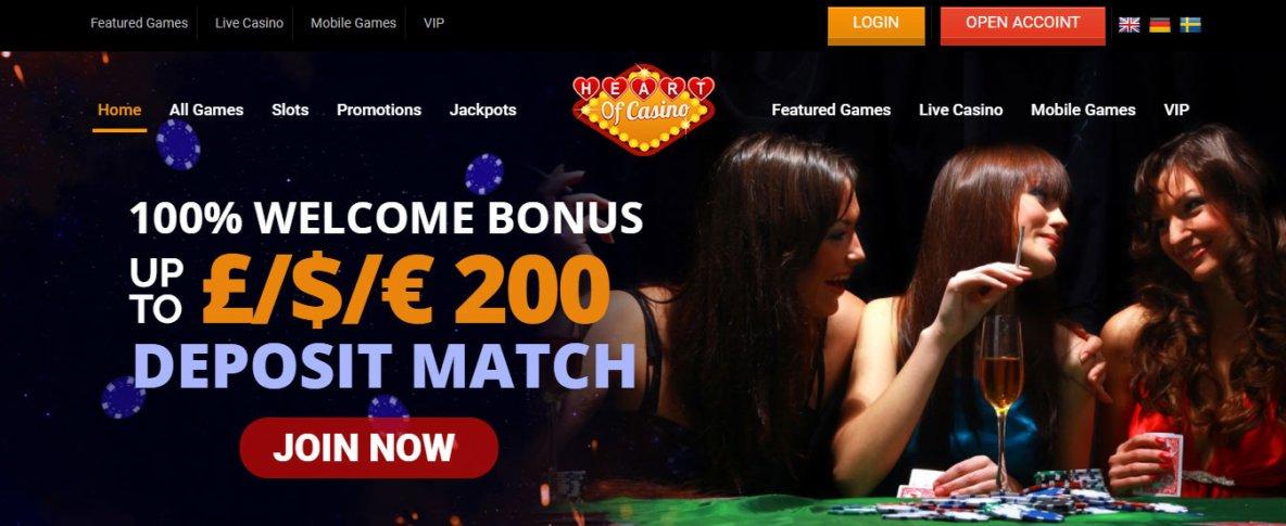 Best Online Site Heart of Casino