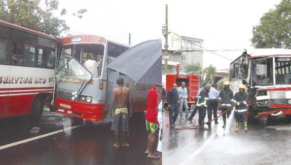 Dans le virage de Terrasson, Pointe-aux-Sables : 37 blessés dans une collision entre deux bus
