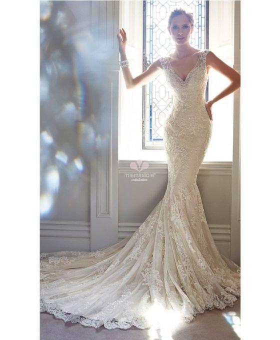 Robe de mariée style sirène en dentelle