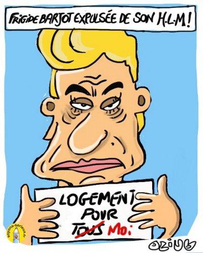 Frigide Barjot sera virée de son logement social parisien !