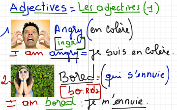 Anglais-Français Niveau A2 -B1 (the Adjectives) | Educreations