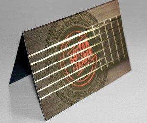 guitar shaped business cards custom die cut business cards printing - Custom Die Cut Business Cards