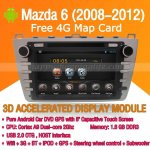 Android Mazda 6 DVD Player GPS Navigation Radio Wifi 3G 2008-2012