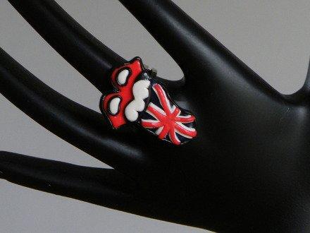 Bague réglable langue drapeau Grande-Bretagne : Bague par jl-bijoux-creation