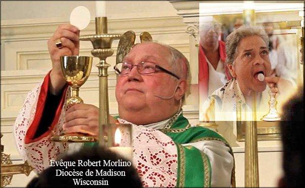 Un Évêque Américain demande au diocèse de commencer à recevoir la communion « sur la langue et à genoux ».