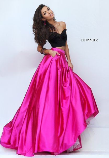 919ad11d8a61 Cheap Sherri Hill 50194 Black Hot Pink Two Piece Satin Prom Dresses Sale  2016 [Sherri Hill 50194black hot pink] - $219.00 : homecomingshortdresses.us
