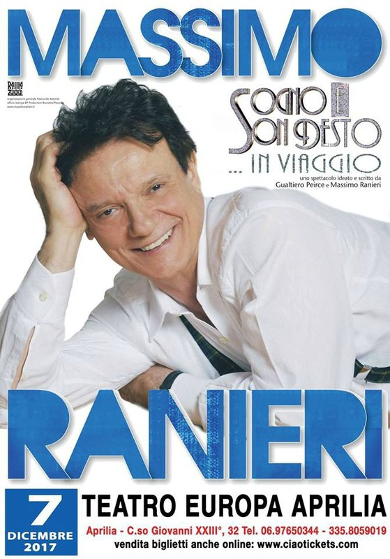 MASSIMO RANIERI EN CONCERT LE 7 DECEMBRE 2017 EN APRILIA ITALIE - LE BLOG DE TONY DIMARINELLO
