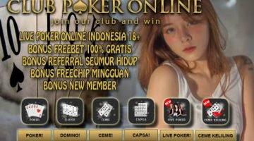 Daftar Poker Online Indonesia Dengan Freebet 100% Gratis