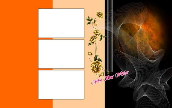 PSD Background Beautiful Charming Wedding Template Free Download