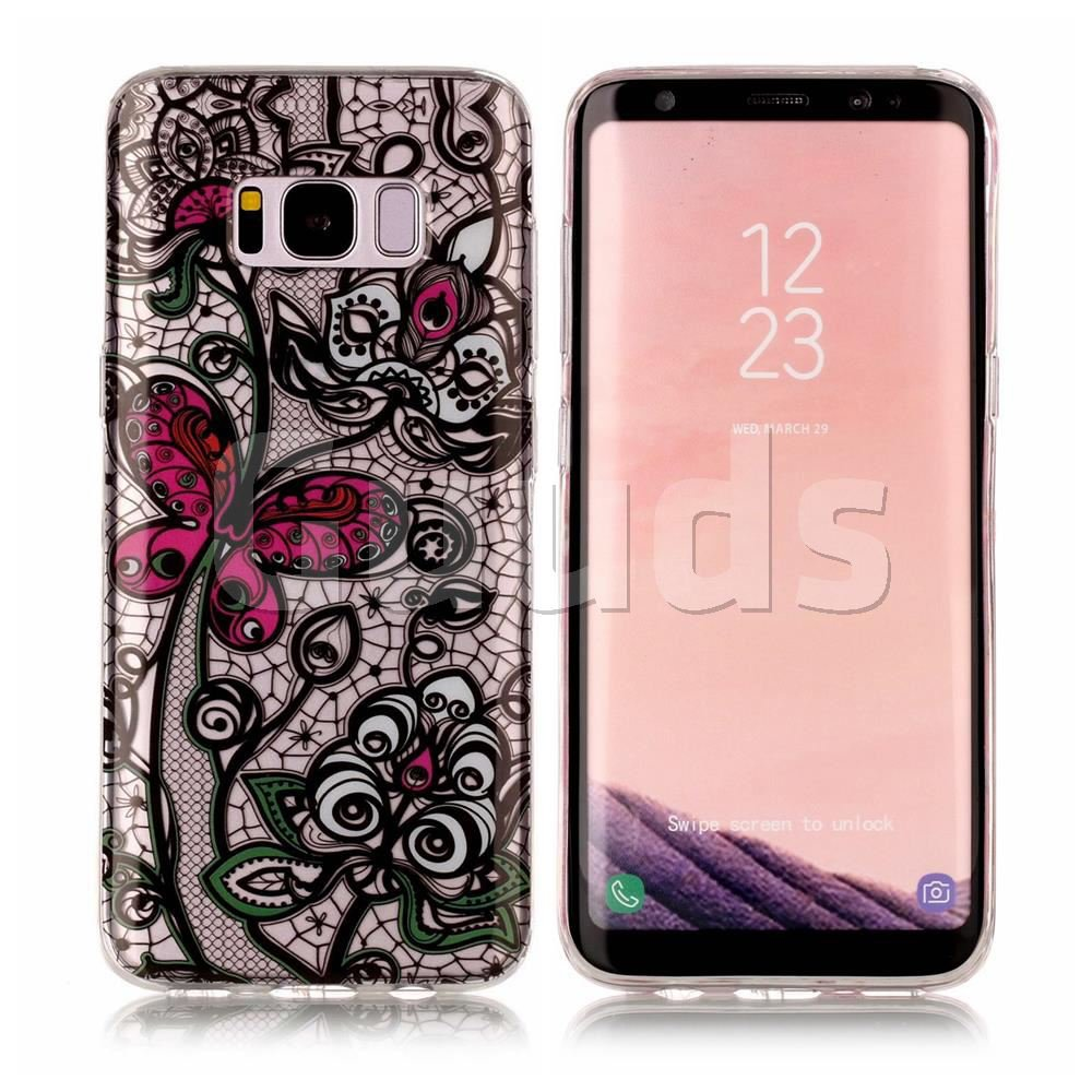 Butterfly Flowers Super Clear Soft TPU Back Cover for Samsung Galaxy S8 Plus S8+ - TPU Case - Guuds