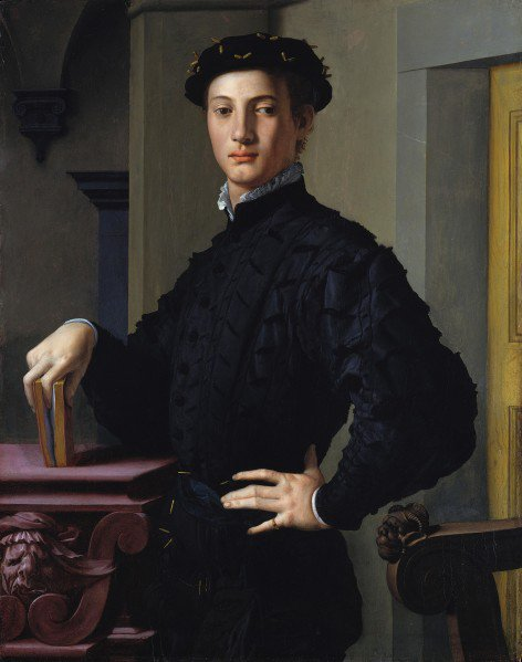 Portrait d'un jeune homme au livre d'Angelo Bronzino